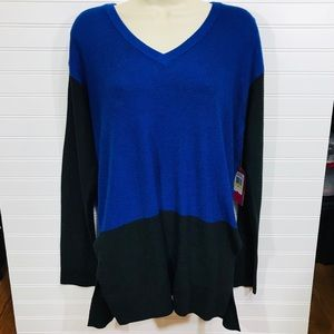 Vince Camuto Colorblock Waffle Stitch Sweater NWT